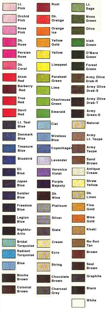 Rit Dye Color Chart