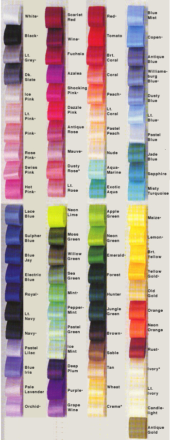 Ribbon Color Chart Gungozq Eye